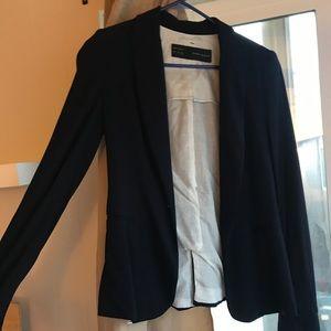 Zara navy blue basic blazer