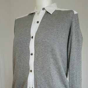 Marc by Marc Jacobs gray white cardigan xs