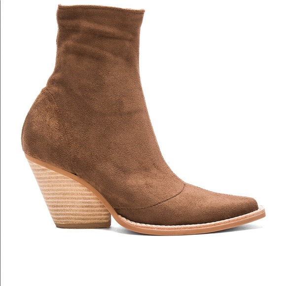4dc50d41df887 Jeffrey Campbell Walton light brown suede bootie