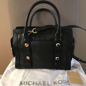 Michael Kor's Black Collins Stud Leather Handbag