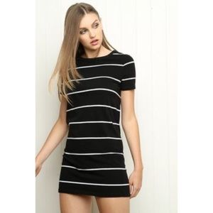 Brandy Melville Black Striped Luana Dress