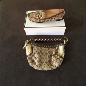 Coach pocketbook & loafers