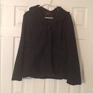 Size large black light jacket!