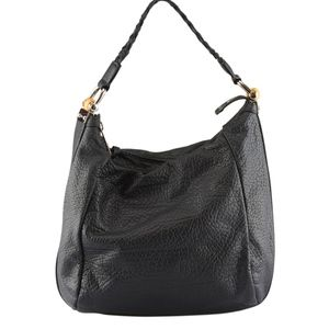 Gucci Bamboo Black Leather Large Hobo 133774