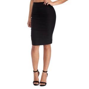NWT Black high waist pencil skirt