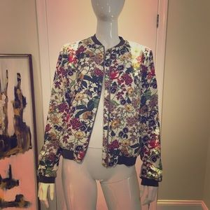 ZARA TRF Flower Bomber Jacket NWOT 😍