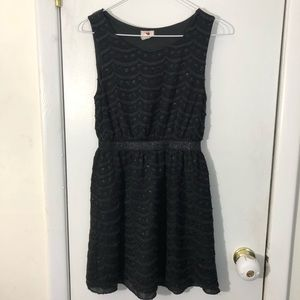 One clothing black sparkly dress