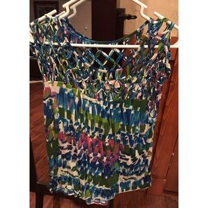 Plenty by Tracy Reese Multicolored Top Sz Small