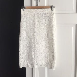 Forever 21 white lace skirt nwt