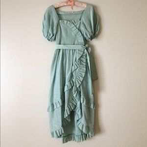 Vintage 70's Bo Peep peasant dress Albert Nipon S