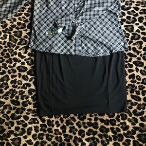Black, Pure Energy Pencil Skirt