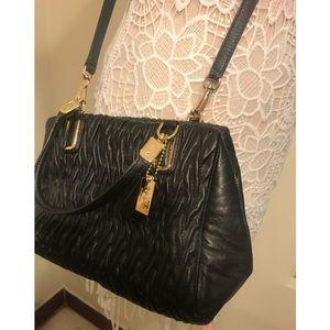 COACH leather black cross body purse