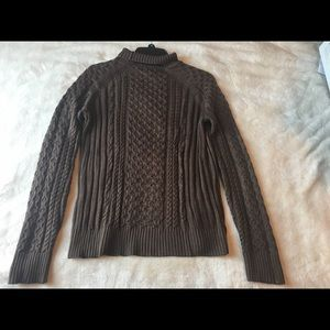 BROOKS BROTHERS BROWN SWEATER