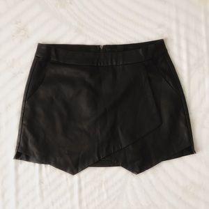 Leather pixie skirt