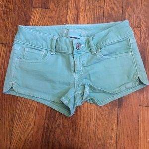 American Eagle mint colored shorts