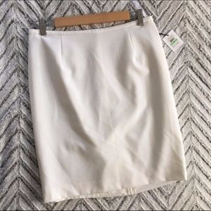 NWT Calvin Klein Lux Solid Lined Pencil Skirt 8P