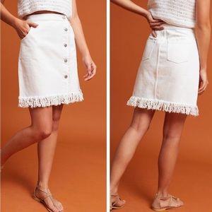 Pilcro and the Letter Press denim skirt