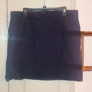 Gap navy pinstripe pencil skirt 18