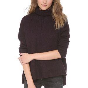 Vince. Soft Ribbed Turtleneck Sweater