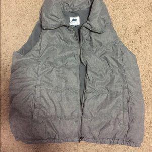 Grey Old Navy puffer vest, size XXL