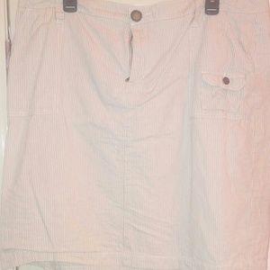 Avenue khaki pinstripe pencil skirt 16
