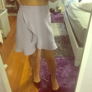 Gorgeous lilac ruffle skirt
