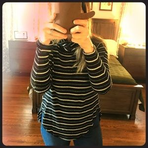 Free People Striped Drippy Thermal Tee