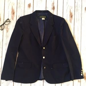 Club Nineteen Navy Blue Wool Blazer