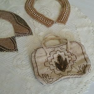 1940s mini beaded purse