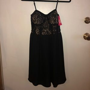 Black lace Juniors dress from Target