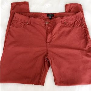 Forever 21+ Skinny Red Orange Clay Jeans 16