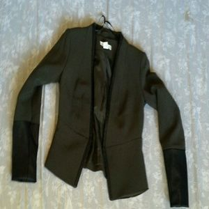 Leather lined blazer