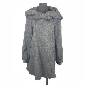 Zara  basic cowl neck cape coat