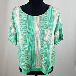 Meadow Rue Anthropologie women XS Zane mint green