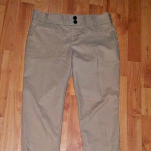 ANTHROPOLOGIE BEIGE CHARLIE ANKLE PANTS TROUSERS