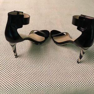Calvin Klein Leopard/Black Sandals