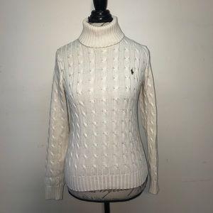 Ralph Lauren Cable Knit Turtleneck