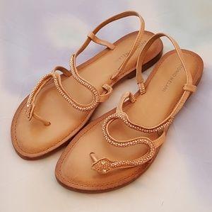 Antonio Melani beaded snake sandals size 9.5