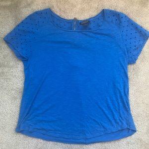 Blue Lucky Brand Short Sleeve Top