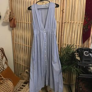 Urban Outfitters Stripe Apron Midi Dress