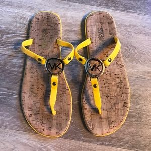 Michael Kors yellow sandals!  8.5 Medium