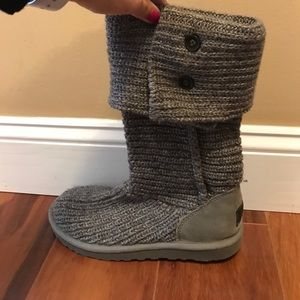 Grey knit uggs