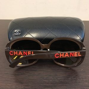 CHANEL Rectangle Signature Sunglasses