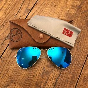 RayBan blue aviator sunglasses
