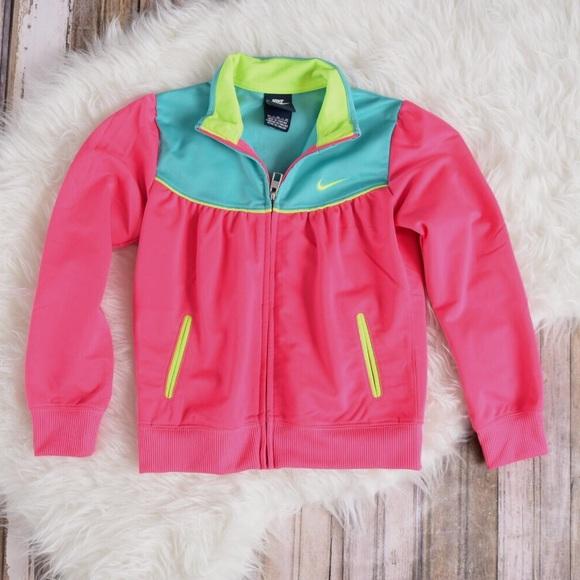 b19cac8bf0 Girls pink Nike Track jacket. Neon nike jacket. M 59e99244bf6df5b38f001518