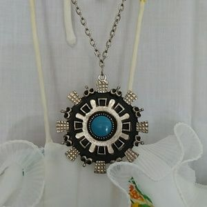 1970s costume turquoise medallion