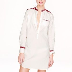 J. CREW  Embroidered Long-Sleeve Tunic/Dress