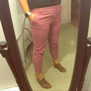 J.Crew - Dusty Rose Chino Ankle Pants - Sz 12