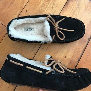 UGG black slippers (7)