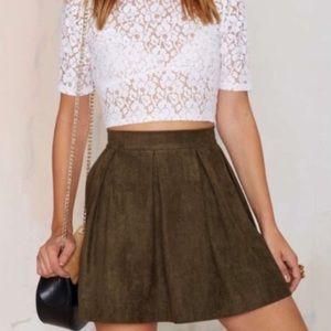 Grunge Green skirt